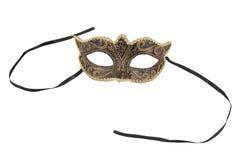 dekorative Karnevalsmaske auf Schwarzem Lizenzfreie Stockbilder