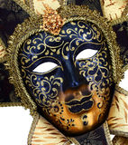 dekorative Karnevalsmaske auf Schwarzem Stockfotos