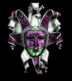 dekorative Karnevalsmaske auf Schwarzem Stockfotografie
