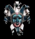 dekorative Karnevalsmaske auf Schwarzem Lizenzfreie Stockfotografie
