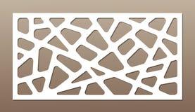 Dekorative Karte für den Schnitt abstrakte Zeilen Muster Laser-Schnitt Verhältnis1:2 Stockfoto