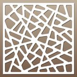 Dekorative Karte für den Schnitt abstrakte Zeilen Muster Laser-Schnitt Verhältnis1:1 Lizenzfreies Stockbild