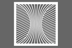 Dekorative Karte für den Schnitt Zeile Muster Laser-Schnitt verhältnis Lizenzfreie Stockfotos