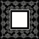 Dekorative Karte mit Verzierung Stockbilder