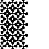 Dekorative Karte Weißes vertikales nahtloses Muster Stockfoto