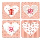 Dekorative Karten für Valentineâs Tag Stockfotografie