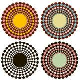 Dekorative Kreise. Vektor Abbildung