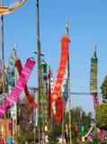 Dekorative kulturelle THAILÄNDISCHE ESAN-Flagge Lizenzfreie Stockfotos