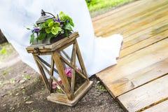 Dekorative Lampe für die Heirat Stockfotografie