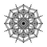 Dekorative Mandala des Vektors in Form von abstrakter Blume Stockfotografie