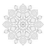 Dekorative Mandalaillustration Stockfoto
