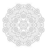 Dekorative Mandalaillustration Lizenzfreies Stockfoto