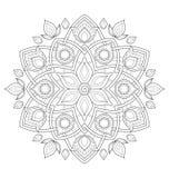 Dekorative Mandalaillustration Stockbild
