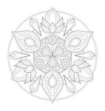Dekorative Mandalaillustration Lizenzfreie Stockfotografie