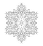 Dekorative Mandalaillustration Lizenzfreies Stockbild