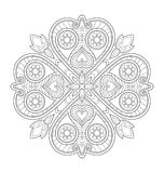 Dekorative Mandalaillustration Stockfotos