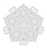 Dekorative Mandalaillustration Lizenzfreie Stockbilder