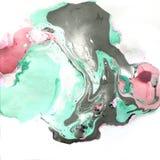 Dekorative Marmorbeschaffenheit Abstrakter Anstrich Modischer Hintergrund für den Druck und die Website Farbenlacke auf Weiß Stockbild
