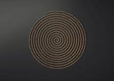 Dekorative Metallspirale stock abbildung