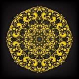 Dekorative mit Blumengrenze des abstrakten Kreises Sie kann für die Verzierung von Hochzeitseinladungen, von Grußkarten, von Deko Lizenzfreies Stockfoto