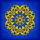 Dekorative mit Blumengrenze des abstrakten Kreises Sie kann für die Verzierung von Hochzeitseinladungen, von Grußkarten, von Deko Stockfoto