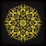 Dekorative mit Blumengrenze des abstrakten Kreises Sie kann für die Verzierung von Hochzeitseinladungen, von Grußkarten, von Deko Lizenzfreie Stockfotografie