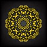 Dekorative mit Blumengrenze des abstrakten Kreises Sie kann für die Verzierung von Hochzeitseinladungen, von Grußkarten, von Deko Lizenzfreie Stockfotos