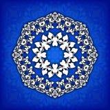 Dekorative mit Blumengrenze des abstrakten Kreises Sie kann für die Verzierung von Hochzeitseinladungen, von Grußkarten, von Deko Lizenzfreie Stockbilder