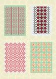 Dekorative Muster und Standards Lizenzfreies Stockbild