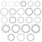 Dekorative nette runde Rahmen vektor abbildung