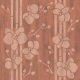 Dekorative Orchideenblume - Innentapete stock abbildung