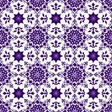 Dekorative orientalische abstrakte nahtlose mit Blumenweinlese-arabische chinesische transparente blaue Muster-Beschaffenheits-Ta lizenzfreie abbildung