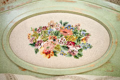 Dekorative Platten mit Stickerei stockbild