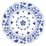 Dekorative Porzellanplatte Lizenzfreies Stockbild
