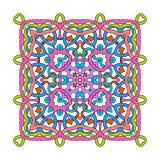 Dekorative quadratische Mandala lizenzfreie abbildung