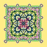 Dekorative quadratische Mandala stock abbildung