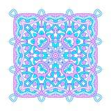 Dekorative quadratische Mandala Stockbild