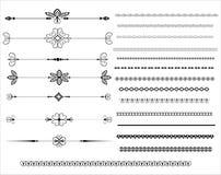 Dekorative Richtlinien-Zeilen in der unterschiedlichen Auslegung Stockbild