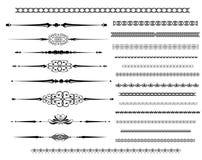 Dekorative Richtlinien-Zeilen in der unterschiedlichen Auslegung Stockbilder