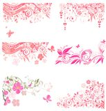 Dekorative rosa Grenzen Stockbilder