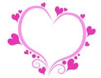 Dekorative rosafarbene Valentinstag-Inner-umreiß vektor abbildung