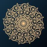 Dekorative dekorative Rosette Vektorbild, Abbildung lizenzfreie abbildung