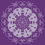 Dekorative Runde entwirrtes Muster Stockbilder