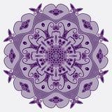 Dekorative Runde entwirrtes Muster Stockbild