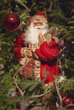 Dekorative Santa Claus Christmas Tree Lizenzfreies Stockfoto
