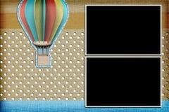 Dekorative Schablone mit Fotorahmen Stockfotografie