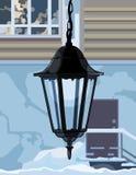 Dekorative Schmiedeeisenlampe Stockbild