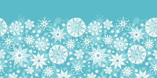 Dekorative Schneeflocken-Frost-horizontales nahtloses Lizenzfreies Stockbild