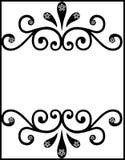 Dekorative schwarze Blumengrenze Lizenzfreie Stockbilder