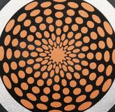 Dekorative Stahlsonne lizenzfreie stockfotografie
